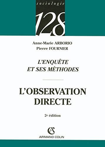 9782200341695: L'observation Directe