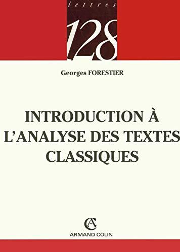 9782200341916: Introduction à l'analyse des textes classiques