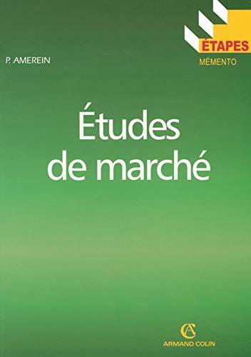 9782200342319: Etudes de marché (French Edition)