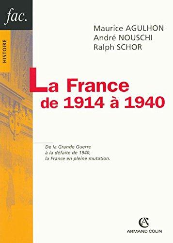 9782200342609: La France de 1914 à 1940