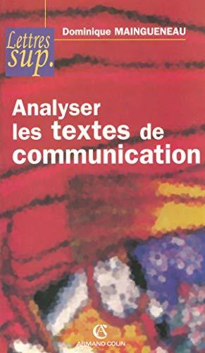 9782200343057: Analyser les textes de communication