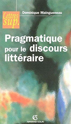 9782200343224: Pragmatique pour le discours littéraire (DD.LP.EGL1L2)