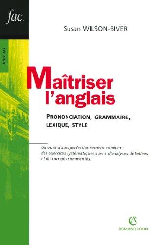 9782200343293: Maîtriser l'anglais (French edition)