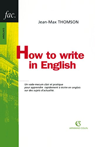 9782200343996: How to write in English (French Edition)