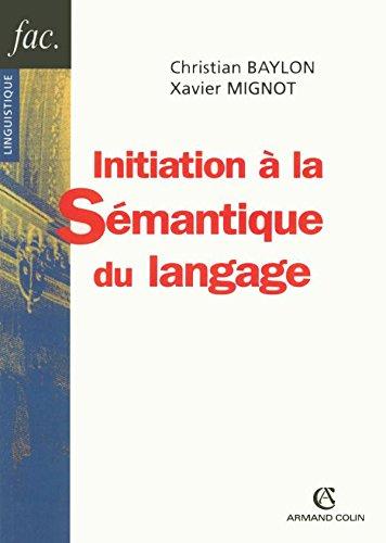 9782200344078: initiation semantique du langage