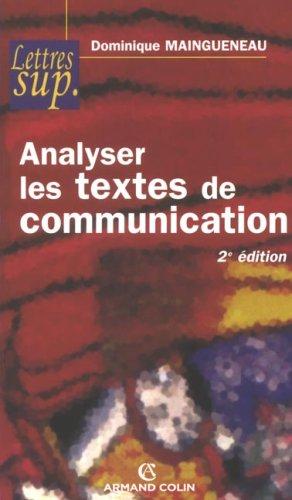 9782200347062: Analyser les textes de communication