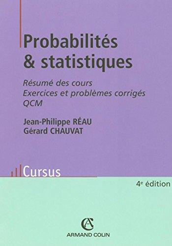 Probabilités & statistiques : Résumés des cours,: Réau, Jean-Philippe/ Chauvat,
