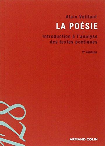 9782200347642: La poésie : Introduction à l'analyse des textes poétiques