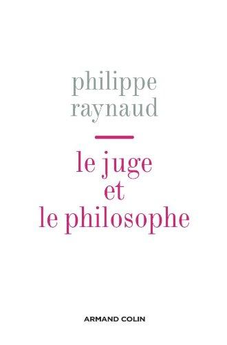 9782200354657: Le juge et le philosophe (French Edition)