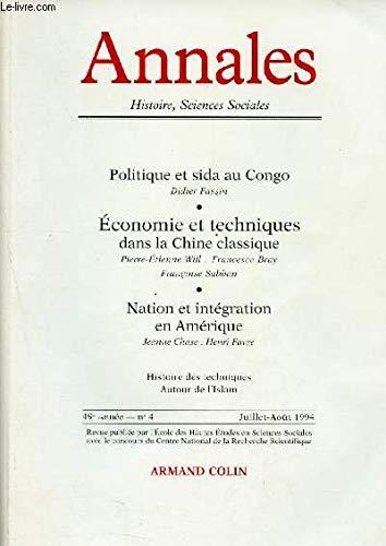 Annales. Economie, sociétés, civilisations. Numéro 4. Juillet-Août: ANNALES