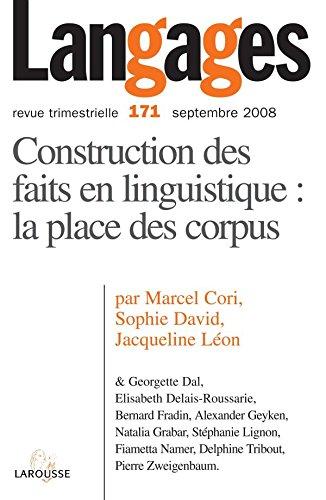 9782200924676: Langages, N° 171, Septembre 20 : Construction des faits en linguistique (French Edition)