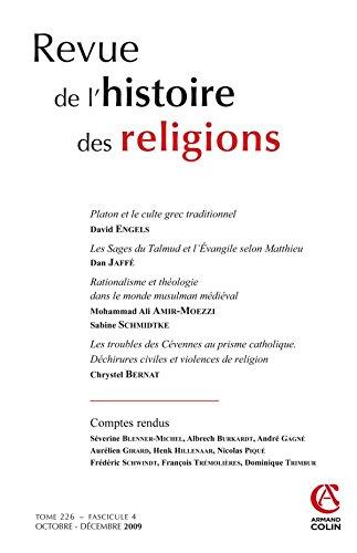 Revue de l'histoire des religions - Tome 226 (4/2009): Collectif