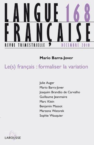 9782200926465: le(s) français : formaliser la variation