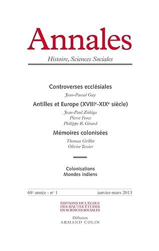Annales Histoire, Sciences Sociales, N? 1, Janvier-mars: Gay, Jean-Pascal, Zu?iga,