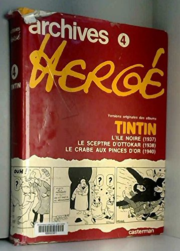 Archives Herge - Tintin - Tome 4