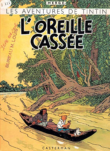 9782203011434: Les Aventures de Tintin : L'oreille cassée (fac-similé de l'édition originale de 1943)