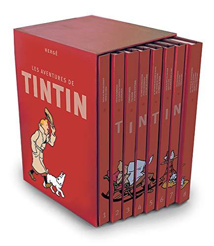 9782203083059: Les Aventures de Tintin, Mini, Integrale : Coffret 8 volumes (French Edition)