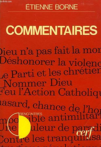 9782204011525: Commentaires (Rencontres)