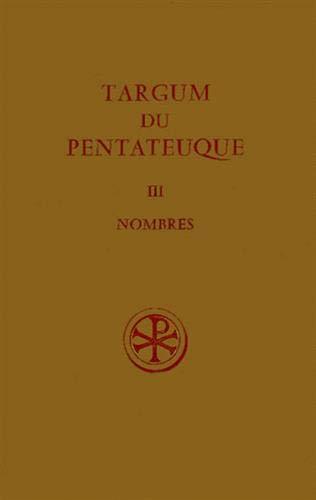 9782204014502: TARGUM DU PENTATEUQUE. Tome 3, Nombres