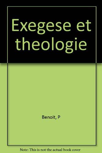EXEGESE ET THEO T.4: BENOIT, PIERRE