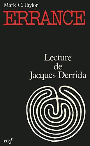 9782204023214: Errance : Lecture de Jacques Derrida, un essai d'a-théologie postmoderne