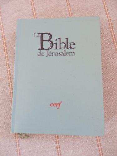 9782204029773: La Bible de Jérusalem : [édition compacte]
