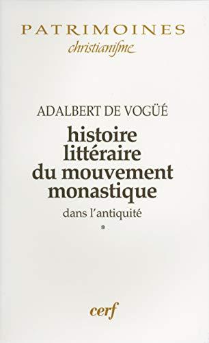 9782204042147: Histoire littéraire du mouvement monastique dans l'Antiquité, tome 1