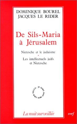9782204043571: De Sils-Maria à Jérusalem: Nietzsche et le judaïsme, les intellectuels juifs et Nietzsche (La Nuit surveillée) (French Edition)