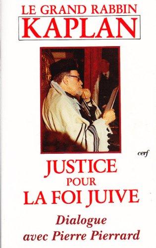 9782204049986: Justice pour la foi juive : Dialogue avec Pierre Pierrard