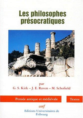 9782204052634: Les philosophes pr�socratiques : Une histoire critique...