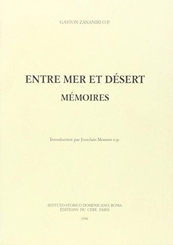 9782204056328: Entre Mer et Desert Memoires