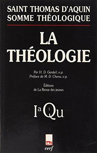 9782204057417: Somme th�ologique Tome 1 : La th�ologie