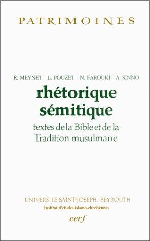 9782204059510: Rhétorique sémitique : Textes de la Bible et de la Tradition musulmane