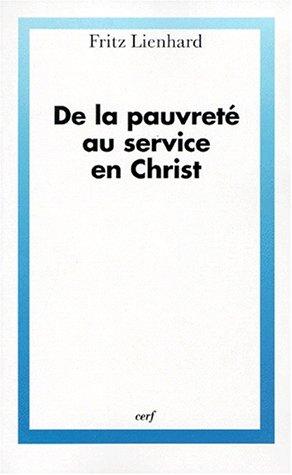 9782204064156: De la pauvreté au service en christ (French Edition)