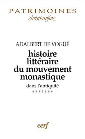 9782204070157: histoire litteraire du mouvement monastique t.vii