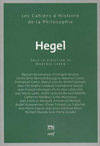 Hegel (French edition): Marcel Conche
