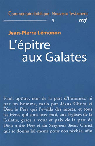 9782204086493: L'epitre aux Galates (French Edition)