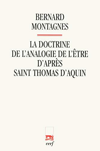 9782204086738: La doctrine de l'analogie de l'être d'après saint Thomas d'Aquin