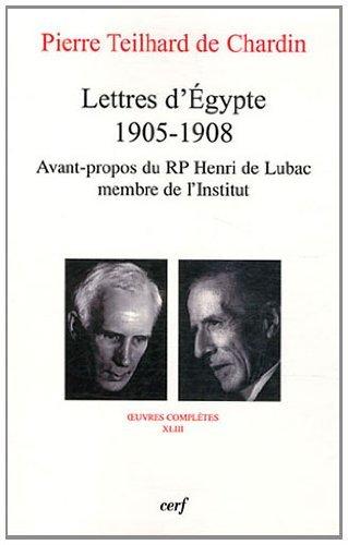 9782204089104: teilhard de chardin. lettres d'egypte (1905-1908)