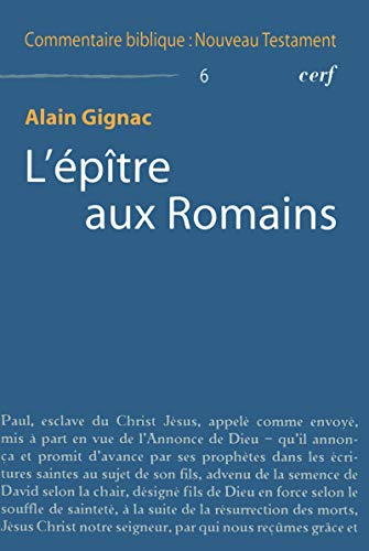 9782204092586: Epitre aux romains
