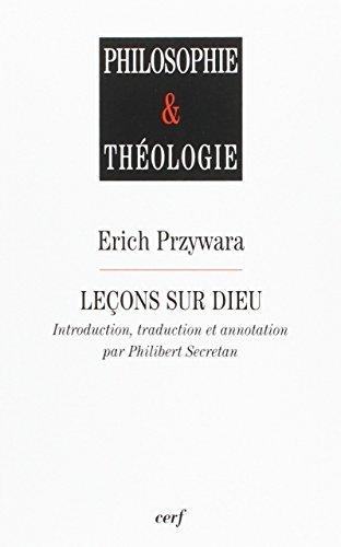 Leçons sur Dieu: Paroles et figures d'éternité (2204093327) by [???]