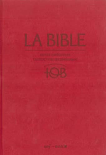 9782204093828: La Bible - Traduction oecuménique - notes intégrales, reliure rigide satin mat grenat sous étui