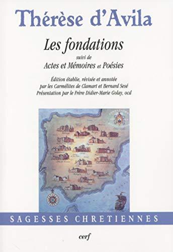 9782204096348: fondations suivi de actes et memoires poesies