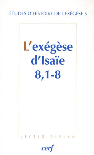 EXEGESE D ISAIE 8 1-8 -L-: DAHAN