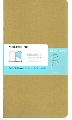9782204401326: Moleskine Chapters Journal, Slim Large, Dotted, Tawny Olive Cover