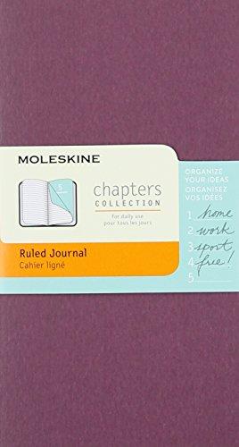 9782204401807: Moleskine Chapters Journal, Slim Pocket, Ruled, Plum Purple Cover