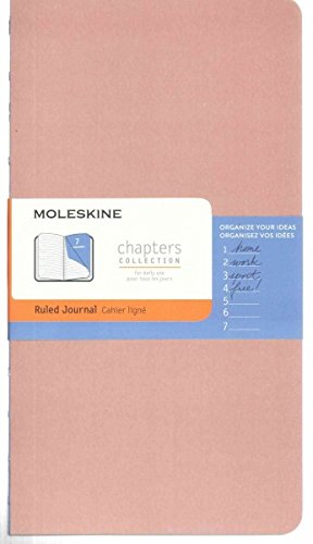 9782204401876: Moleskine Chapters Journal, Slim Large, Ruled, Old Rose Cover (Moleskine Chapters Collection)