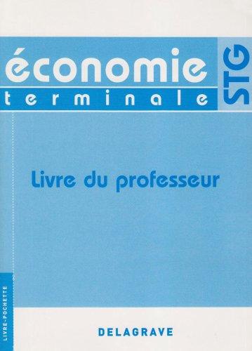 9782206013053: Economie Tle STG : Livre du professeur