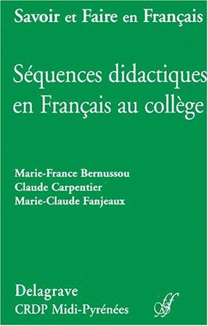 9782206083377: Sequences didactiques en fran�ais au college