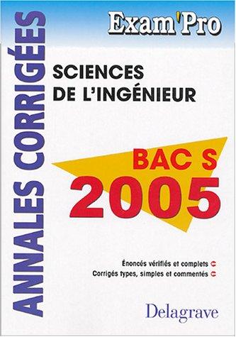 9782206088150: Sciences de l'ingénieur Bac S : Annales corrigés